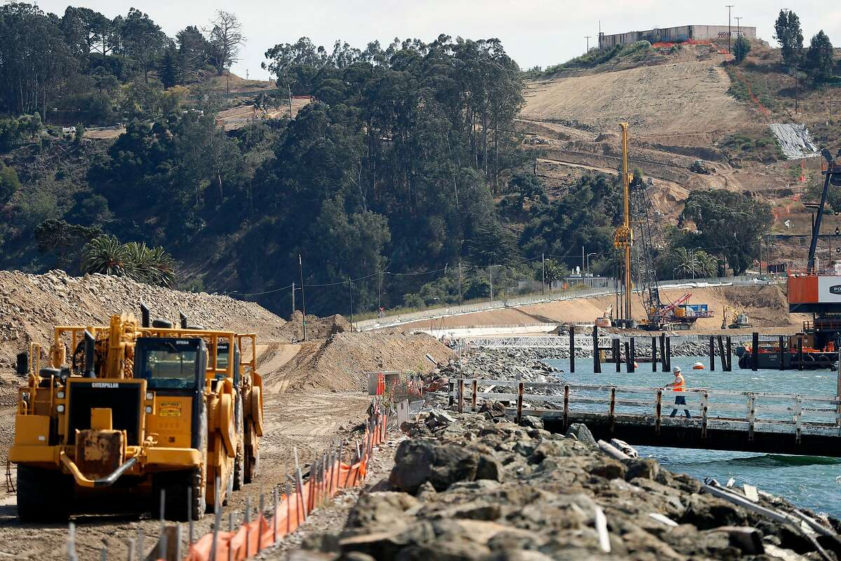 Construction on Treasure Island in San Francisco, Calif., on Wednesday, September 18, 2019.