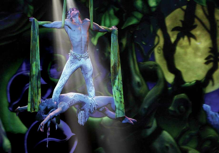 "A scene from ""Cirque Dreams Jungle Fantasy"" at Mohegan Sun Aug. 23-24. Photo: Carol Rosegg / Courtesy Photo / Reinhold Matay"