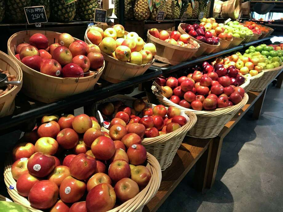 A variety of apples are on display at a market in New York on Monday, Sept. 9, 2019. Regardless of whether you are picking them at the market or off a tree, there are so many great things to do with apples that dona€™t include making a pie.  (AP Photo/Julia Rubin) Photo: Julia Rubin / AP
