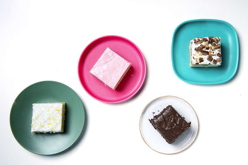 Lemon Buttermilk, Pink Birthday, Candy Bar and Chocolate Sheet Cakes on Thursday, Aug. 22, 2019. (Mariah Tauger/Los Angeles Times/TNS)