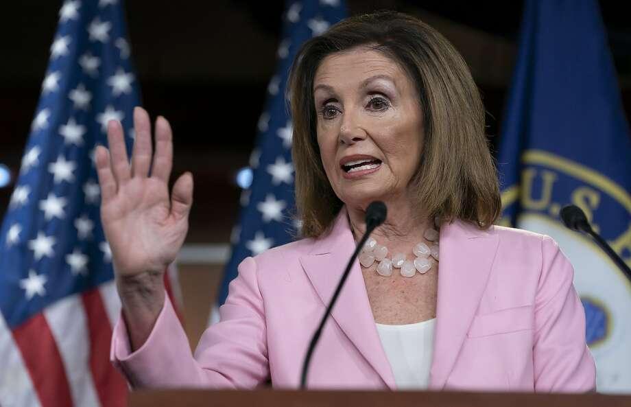 On this Sept. 12, 2019, photo, House Speaker Nancy Pelosi, D-Calif., speaks at the Capitol in Washington. Photo: J. Scott Applewhite, Associated Press