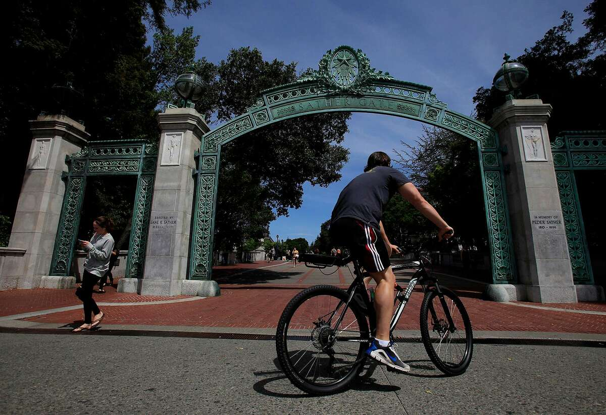 Sather Gate at the University of California, Berkeley on May 15, 2014. College attendance can be encouraged with simple nudges. (Francine Orr/Los Angeles Times/TNS)