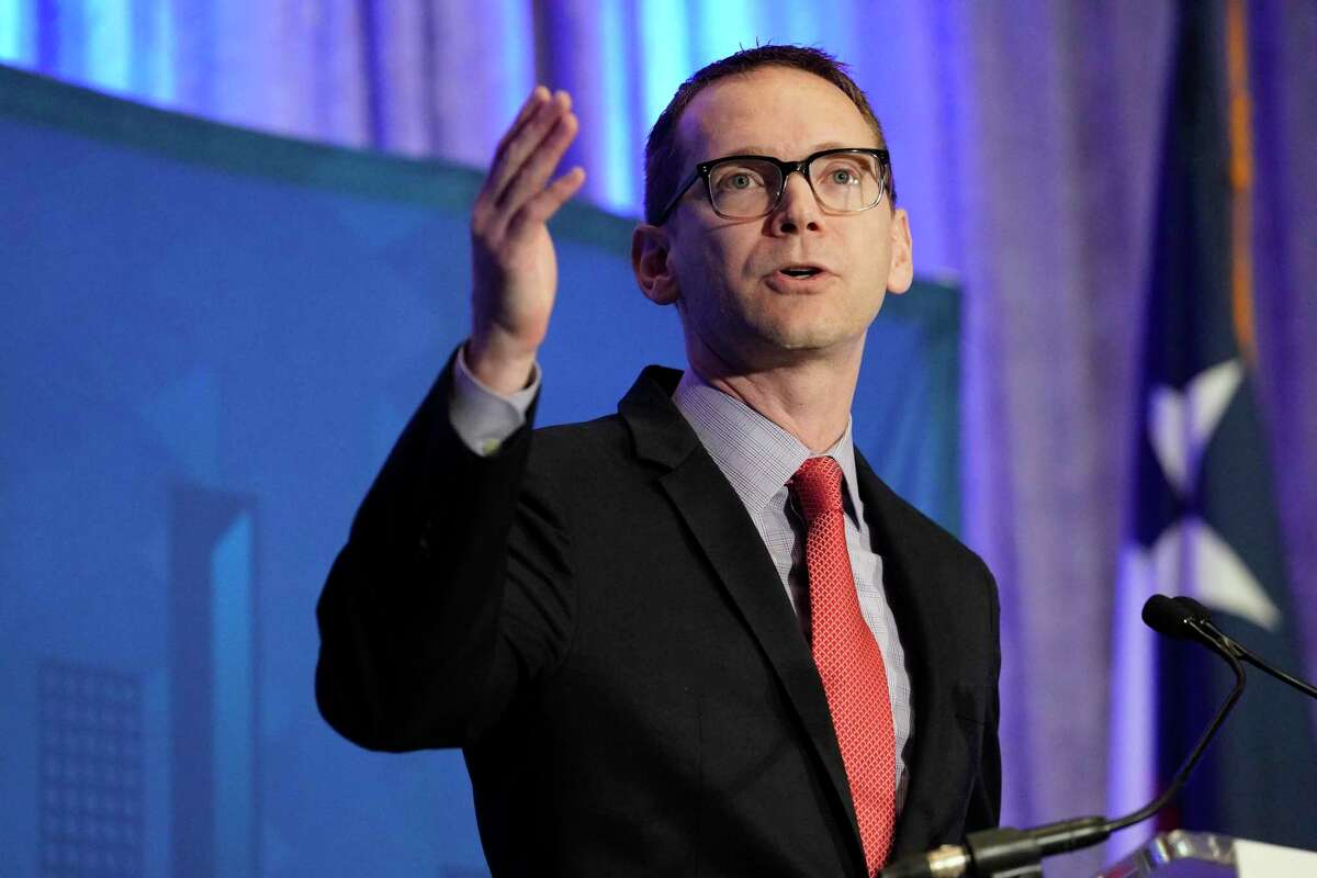 Texas Education Commissioner Mike Morath, pictured in 2019, announced the state will still give the STAAR exam in the upcoming spring, but online-only students are not required to take the tests and A-through-F accountability ratings will not be issued in 2020.