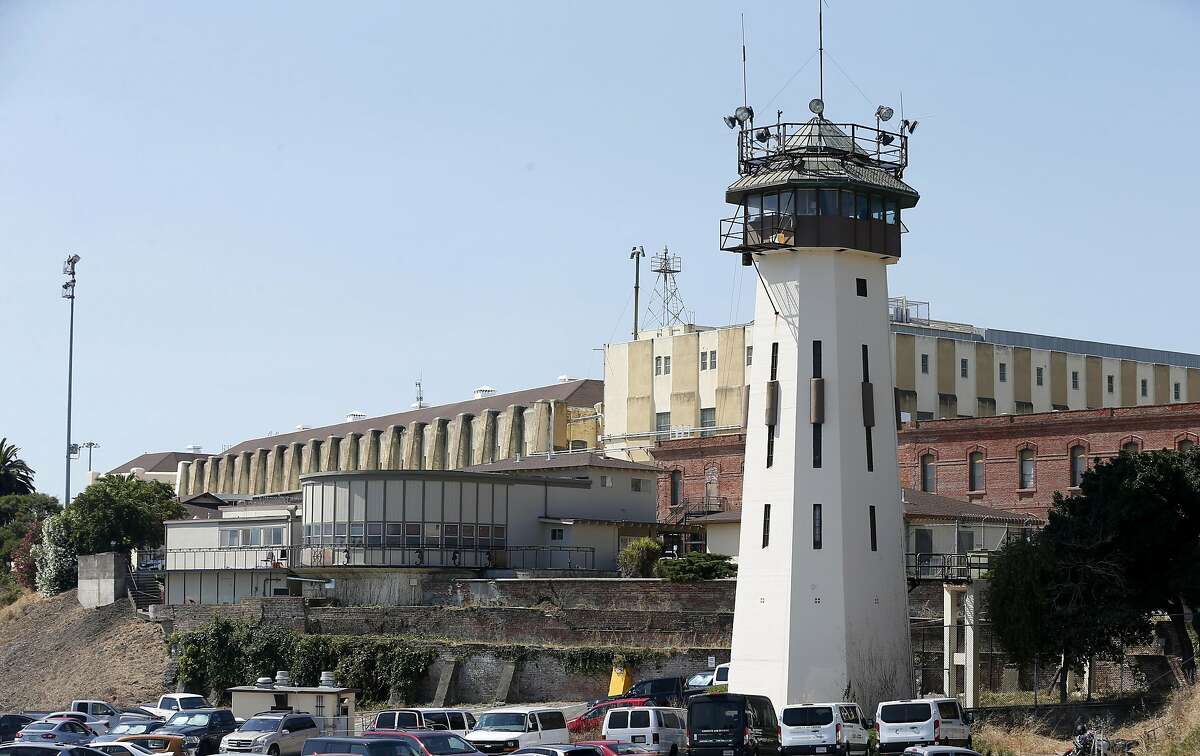 San Quentin State Prison is seen in San Quentin, Calif. on Thursday, Sept. 12, 2019. The Robert E. Burton Adult School at the prison has been designated as a