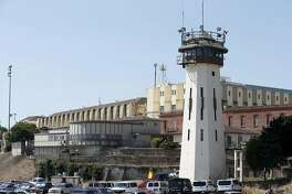 "San Quentin State Prison is seen in San Quentin, Calif. on Thursday, Sept. 12, 2019. The Robert E. Burton Adult School at the prison has been designated as a ""distinguished school,"" the first school within the California corrections system to achieve the honor."