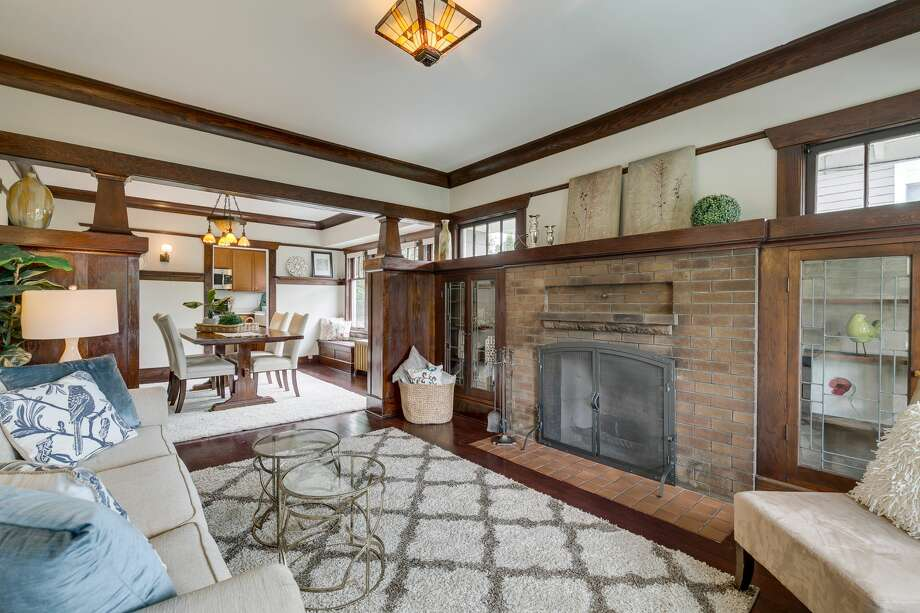 With original early 1900s detail intact, this Mt Baker Craftsman asks $799K Photo: Diana_Kallerson.pnwhomephotograp, MLS Photos: Diana Kallerson; Original Photo Courtesy Michael Chotzen