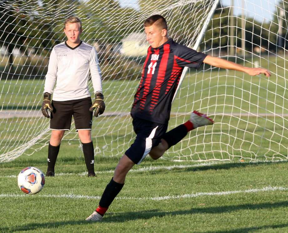 USA defends its home turf against Harbor Beach with a 4-0 victory on Wednesday, Sept. 18. Photo: Eric Rutter / Huron Daily Tribune