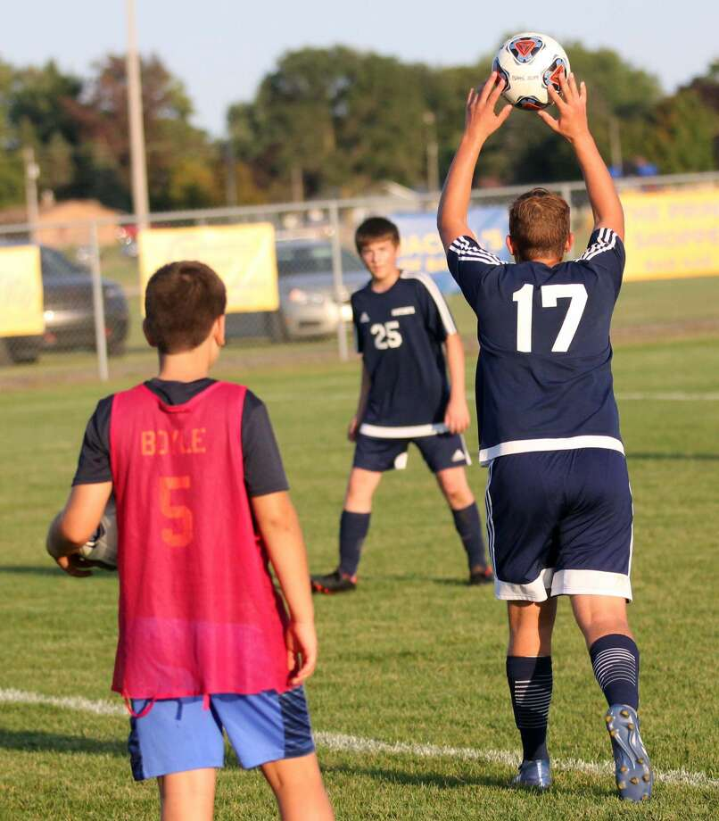 The Bad Axe boys soccer team roughed up the Caro Tigers Wednesday, coming away with a 8-0 victory. Photo: Mark Birdsall/Huron Daily Tribune