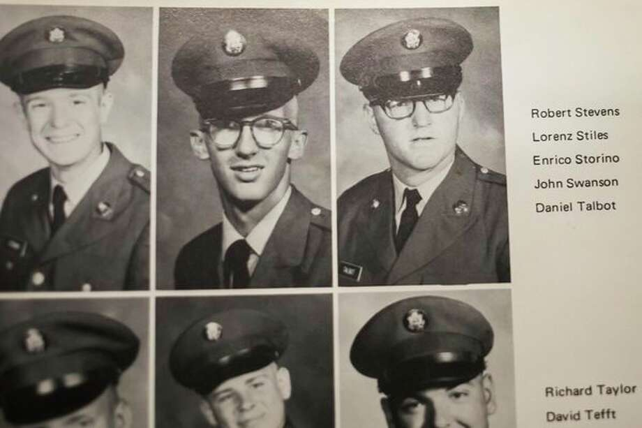A photo of Dan Talbot, right, is seen in a U.S. Army yearbook from 1969. (Photo provided)