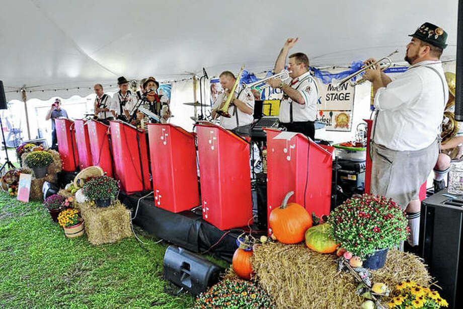Heidelberg German Band of Chicago performs during Jacksonville Rotary Club's Oktoberfest. The band, a staple for the Rotary fundraiser, will return again this year for sets throughout the afternoon. Photo: Photo Provided