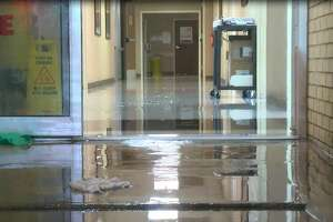 "A hospital in nearby Winnie was evacuated overnight after the town experienced high levels of flooding that officials said is probably ""worse than Harvey."""
