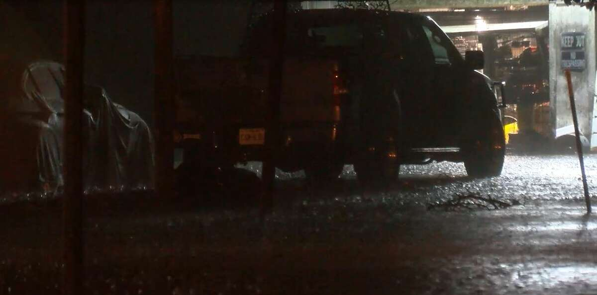 A hospital in nearby Winnie was evacuated overnight after the town experienced high levels of flooding that officials said is probably