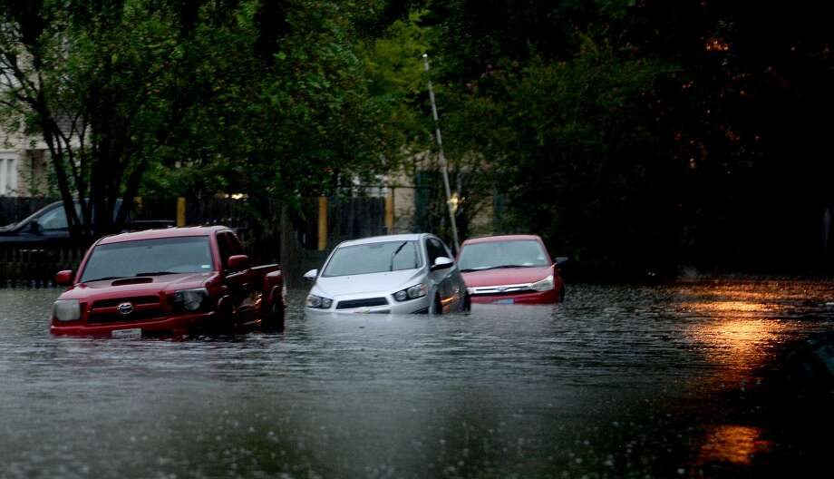 Streets in Old Town are flooded as heavy storm bands continue to batter the region Thursday morning. Photo taken Thursday, September 19, 2019 Kim Brent/The Enterprise Photo: Kim Brent/The Enterprise