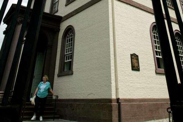 In this July 30, 2009 photo, the Touro Synagogue, the oldest existing Jewish house of worship in the United States, is seen in Newport, RI.