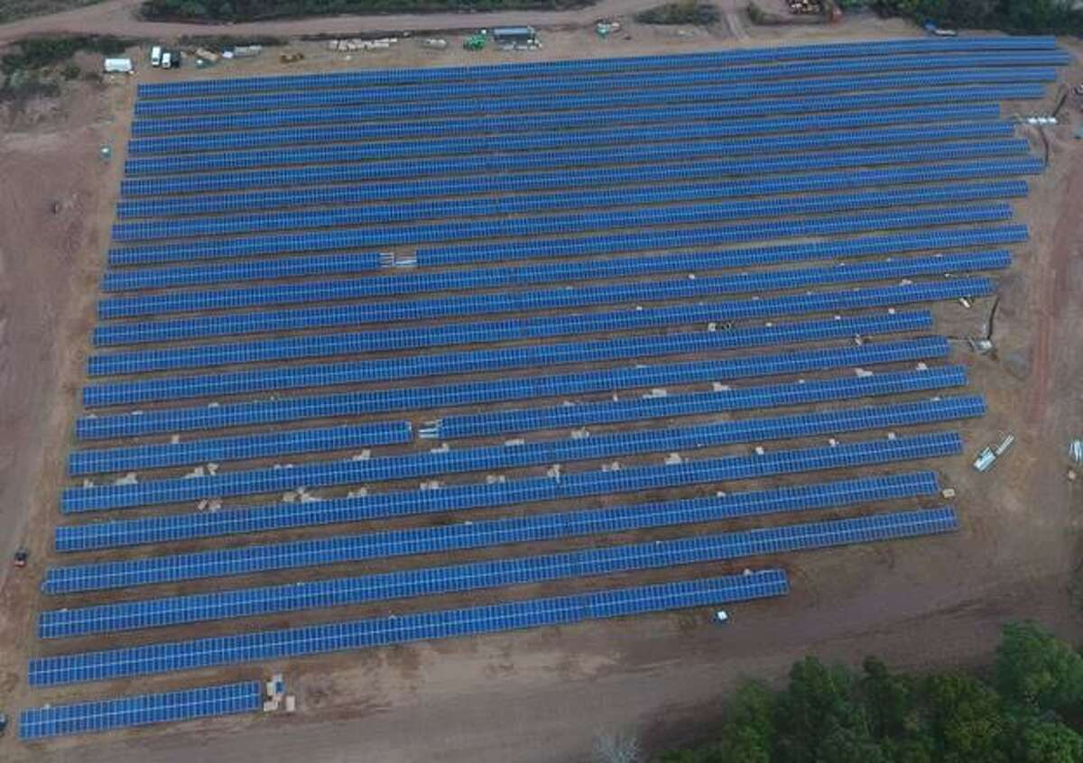 This solar project called NorCap South in East Windsor, supplies South Windsor with 28 percent of its municipal power through the concept of virtual net metering.