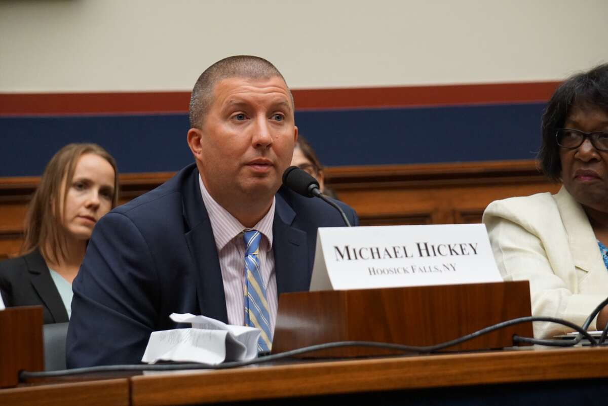 Michael Hickey, who discovered PFOA contamination in Hoosick Falls' drinking water, testified before the U.S. House of Representatives Transportation Committee's Water Resources and Environment Subcommittee at the U.S. Capitol in Washington, D.C., on Wednesday September 18, 2019.