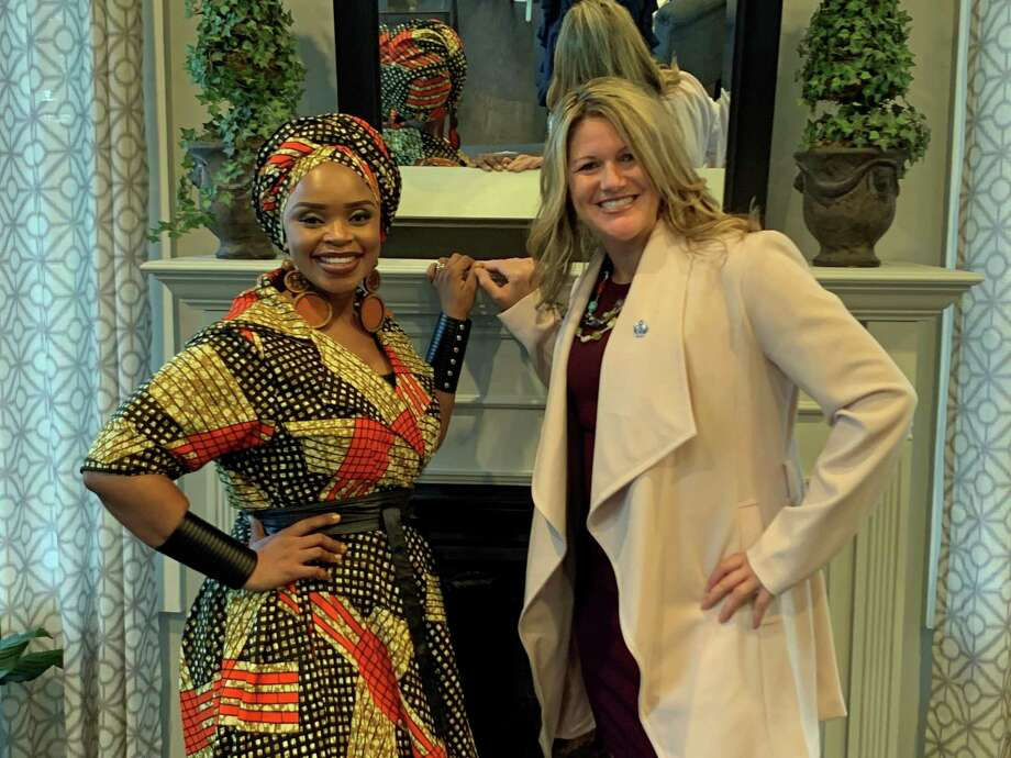 GACCF Ambassador Zoleka Mandela and Tonya Steiner, Executive Director of GACCF, host a fundraiser at Pearl Longshore in Westport on Sept. 18, 2019. Photo: Kengra Wingate / For Hearst Connecticut Media