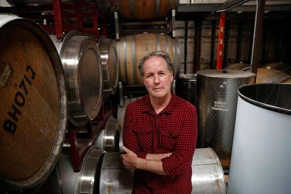 Bryan Harrington, owner-winemaker Harrington Wines, sits for a portrait at Harrington Wines on Wednesday, September 18, 2019 in San Francisco, CA.