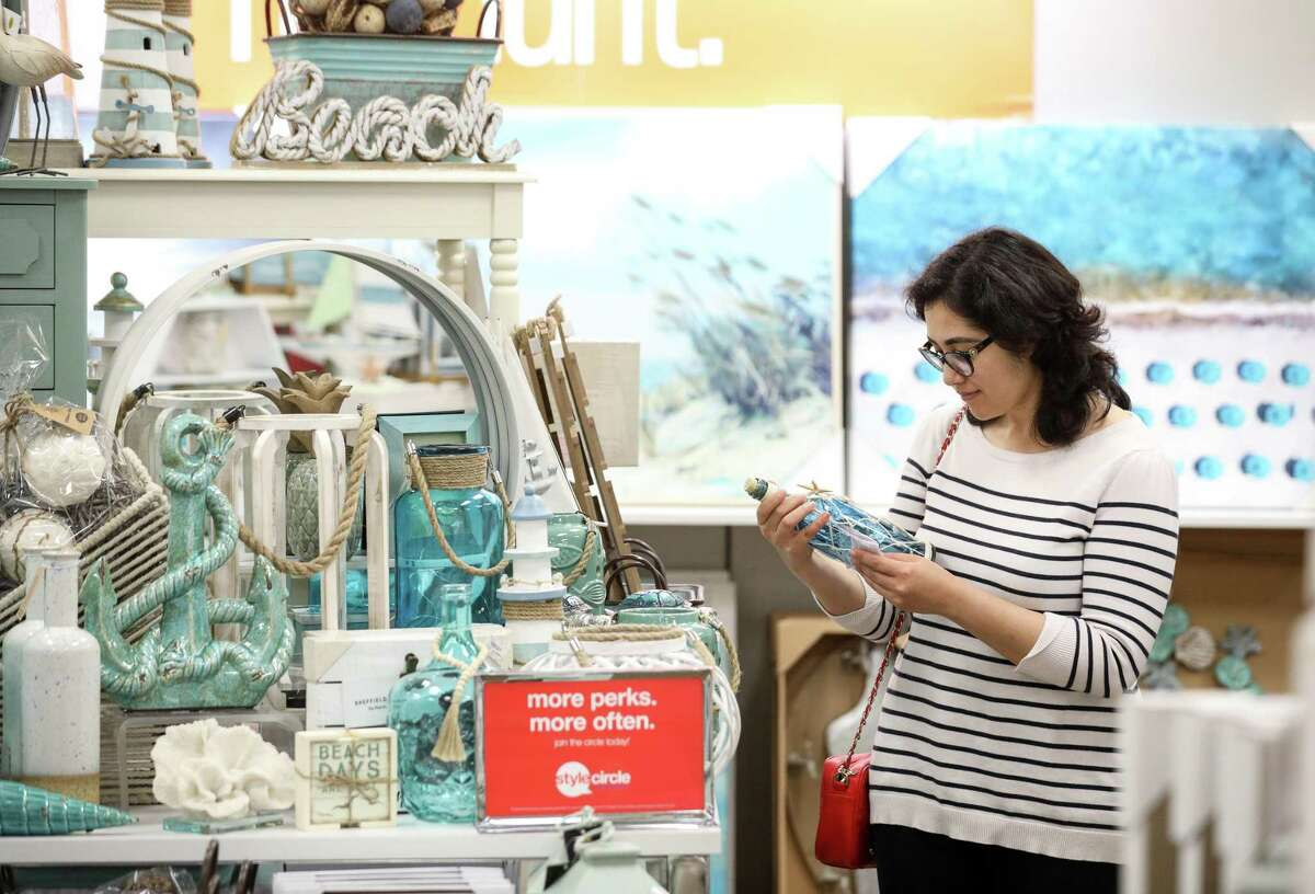 Pooja Goswami shops for home goods at a Gordmans store on Thursday, April 11, 2019, in Spring. Goswami and her husband recently bought a house after moving to Houston from Dubai.