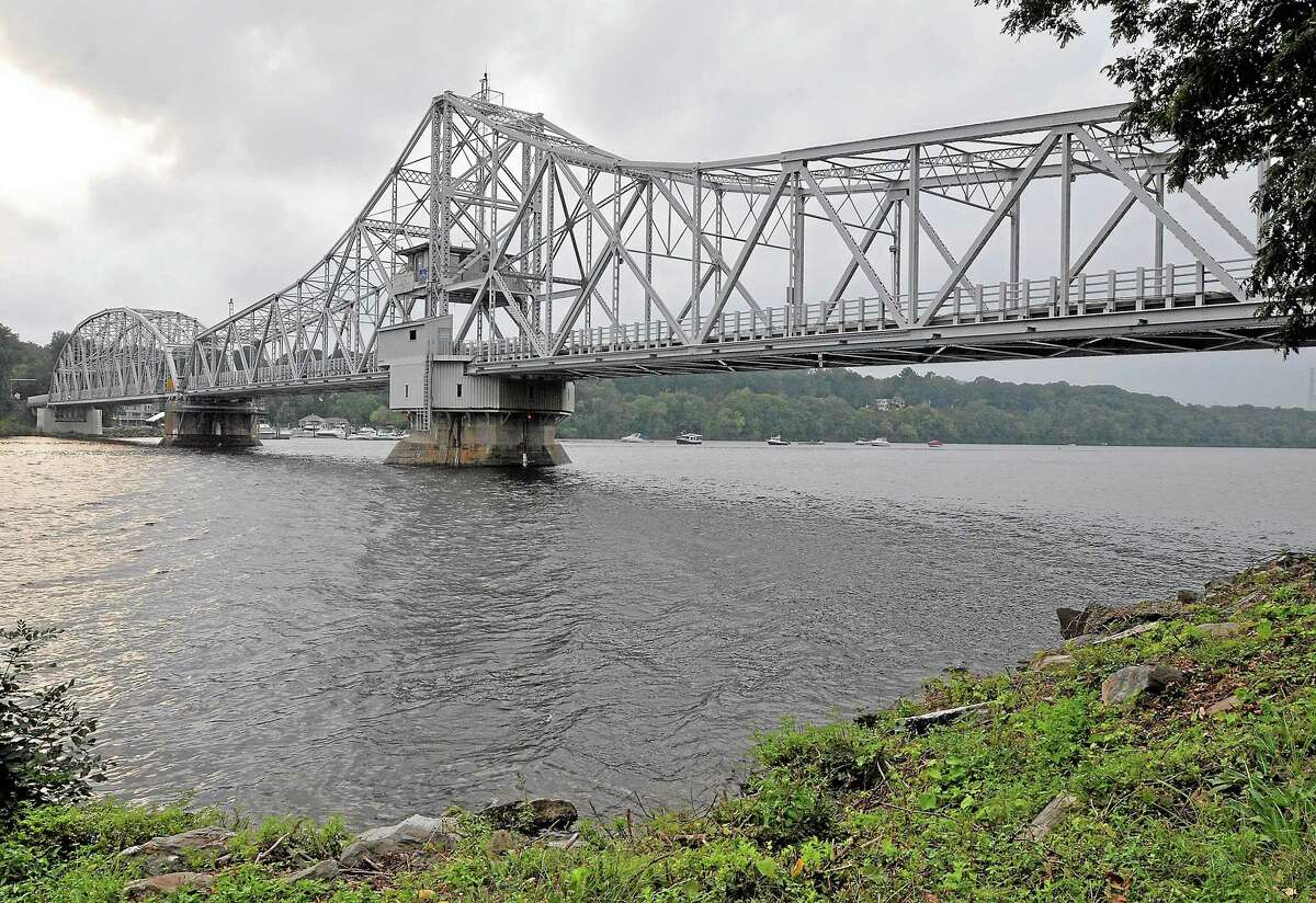 The East Haddam Swing Bridge spans the Connecticut River between Haddam and East Haddam.