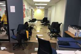 Ben Parsons @BenParsons7 Update: We are having to end our wall-to-wall coverage on Imelda and evacuate our building due to flooding.