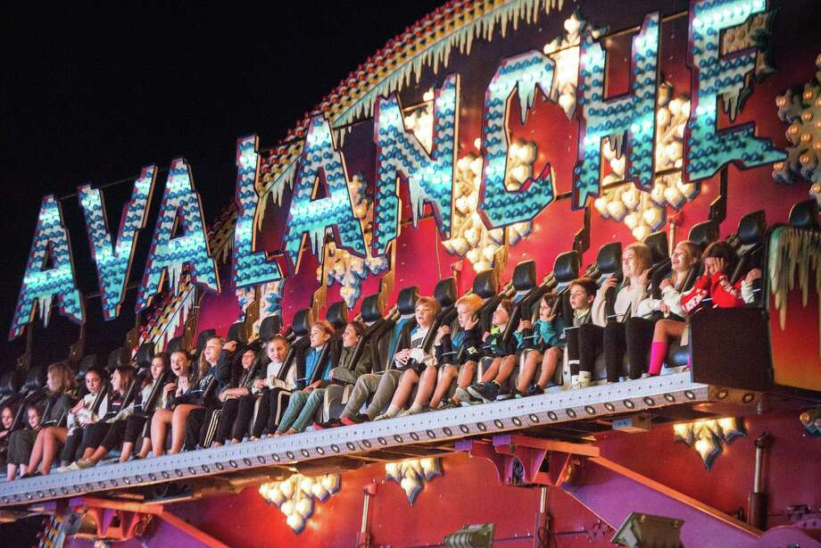 The Avalanche is a popular ride at the carnival. Photo: Bryan Haeffele / Hearst Connecticut Media / Wilton Bulletin