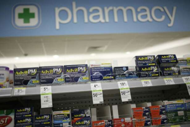 The pharmacy area of a Walgreens store is pictured in Louisville, Kentucky.