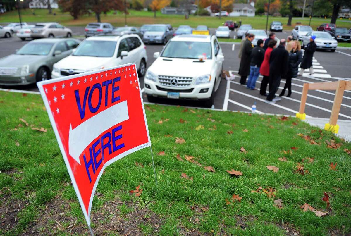 Voters at the polling place at Hillcrest Middle School in Trumbull, Conn. on Tuesday Nov. 7, 2017.