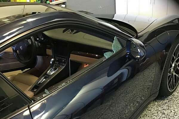 KTVU anchor Frank Somerville shared these photos of his car after it was broken into.