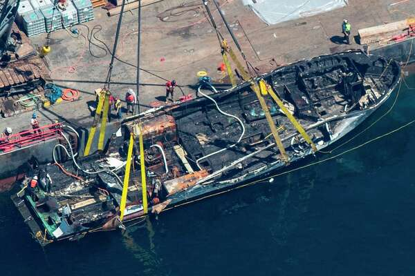 Crew member injured in dive boat fire that killed 34 sues vessel owners