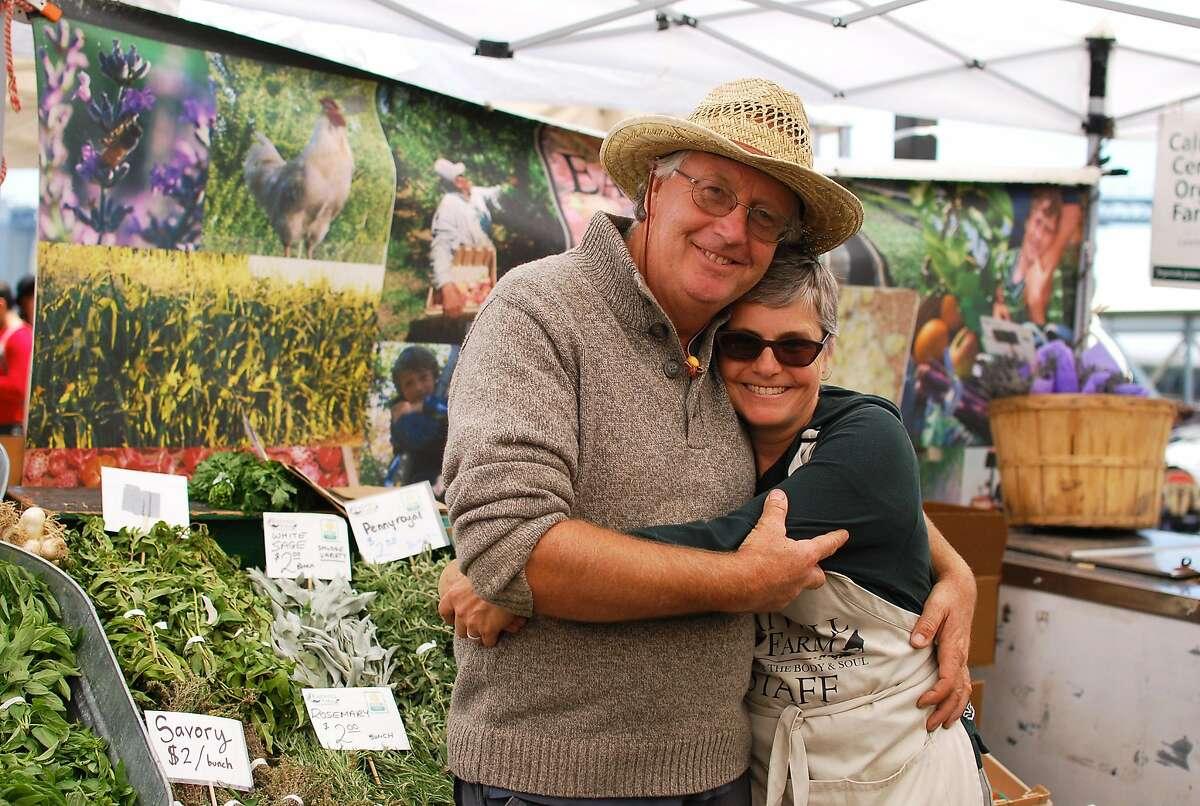 Eatwell Farm's Nigel and Lorrain Walker at the farmer's market. Photo courtesy of CUESA