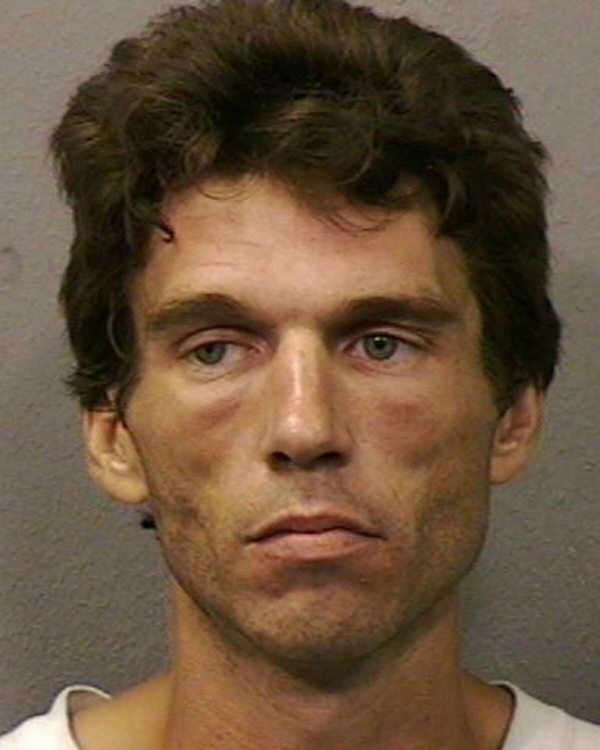 A Houston Police mugshot shows Matthew Roppolo, a 53-year-old Houston man housed at the McConnell Unit, who is the plaintiff in a federal civil rights case seeking class action status for all Texas inmates infected with hepatitis C. The lawsuit claims the Texas Department of Criminal Justice is denying most inmates with the infection access to medicine that is the standard of care and will cure them of the disease.