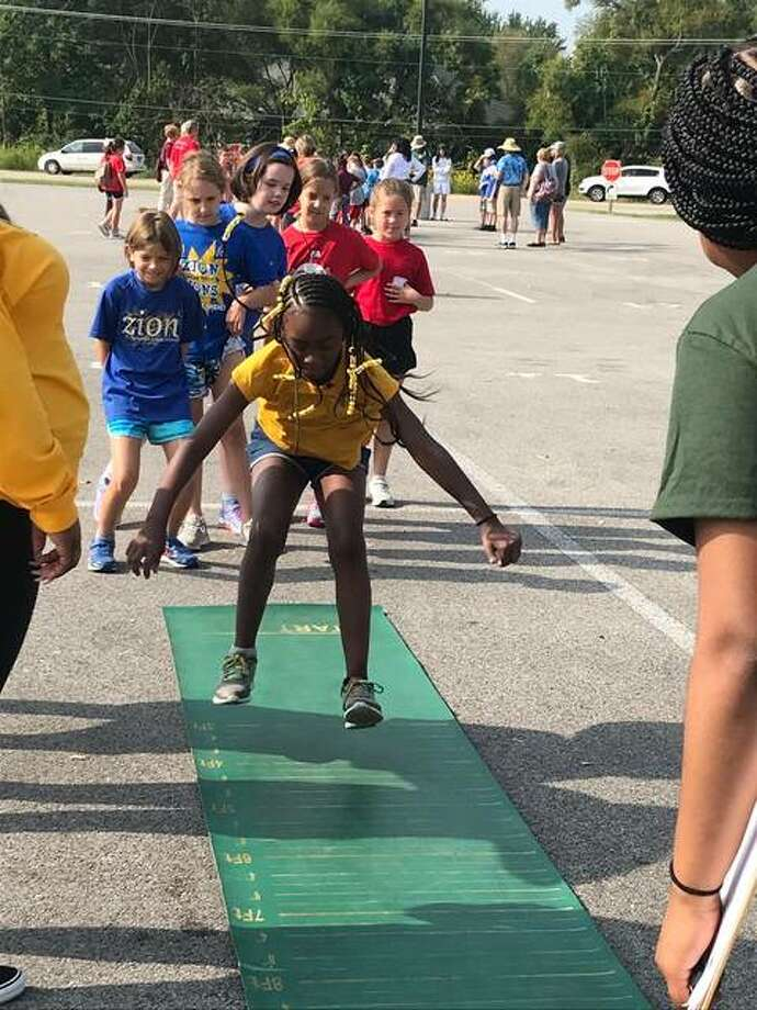 Elementary schools from Edwardsville, Collinsville, Godfrey, Troy, Hamel, Prairietown, Bethalto, Belleville, Litchfield and Staunton all participated in this year's MELHS Field Day. Photo: For The Intelligencer