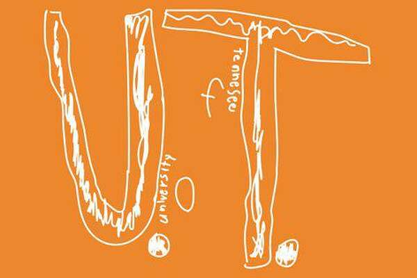 This is the logo a fourth-grader drew by hand and was put onto a University of Tennessee T-shirt.