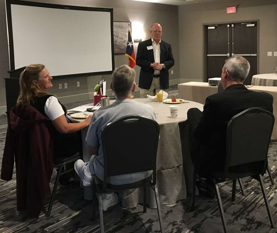 Fort Bend County Precinct 3 Commissioner Andy Meyers spoke at the Sept. 18 Business Builder Breakfast of the Katy Area Chamber of Commerce. The meeting was held at Best Western Premier in Katy. Photo: Karen Zurawski / Karen Zurawski