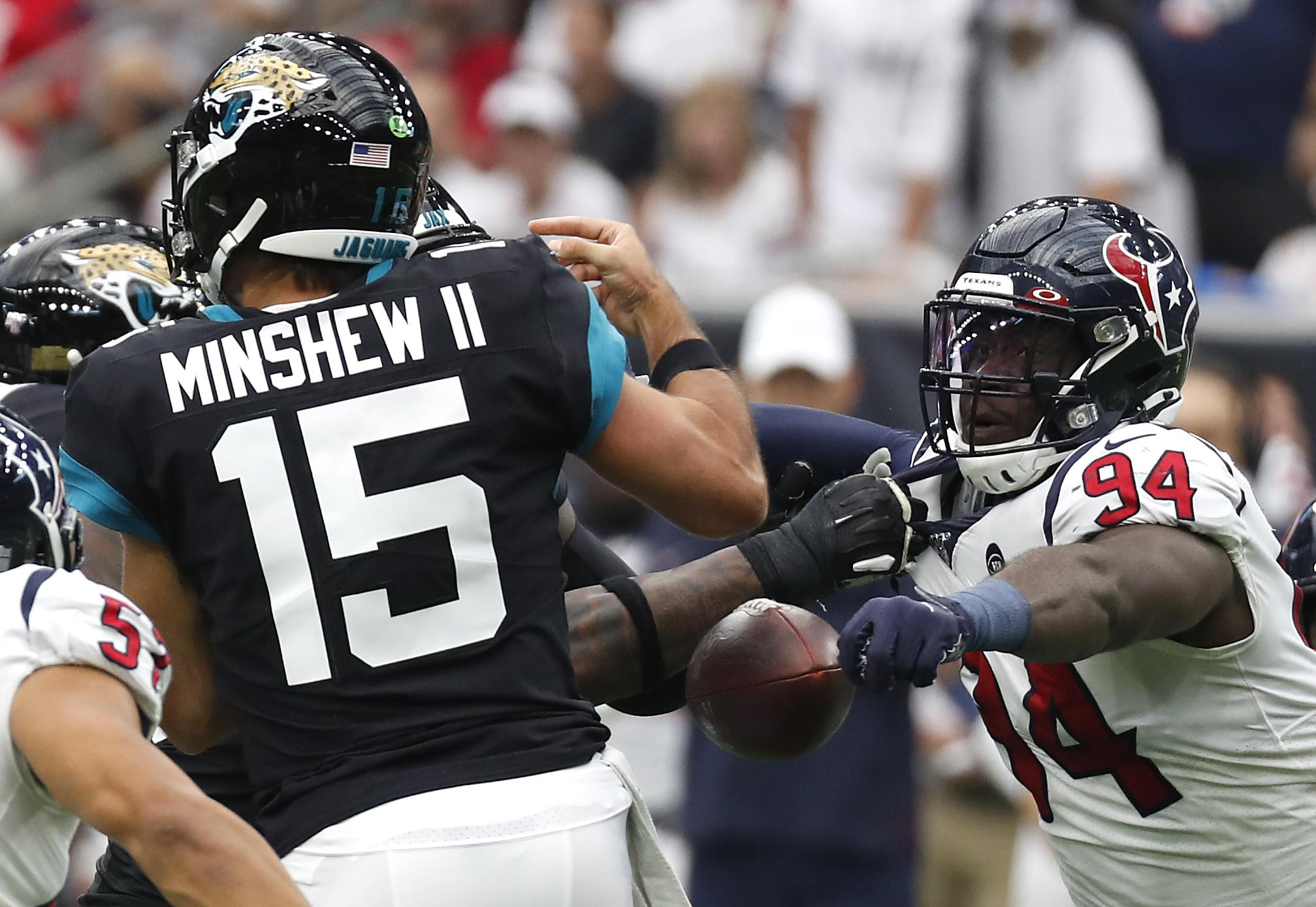 Texans rookie Charles Omenihu gets first sack but wants more
