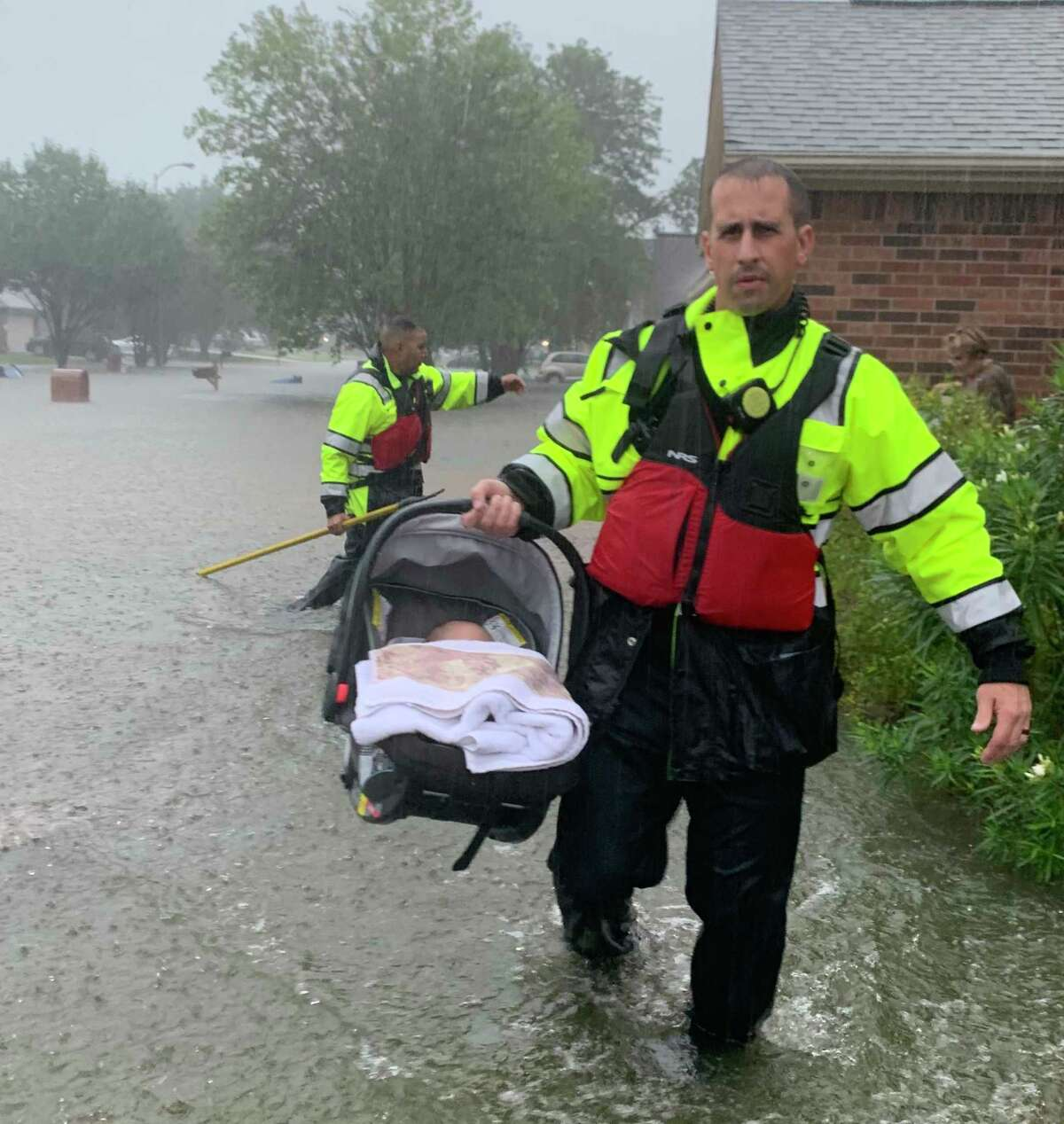 The Spring Fire Department conducts high-water rescues throughout the day on Thursday, Sept. 19, 2019.