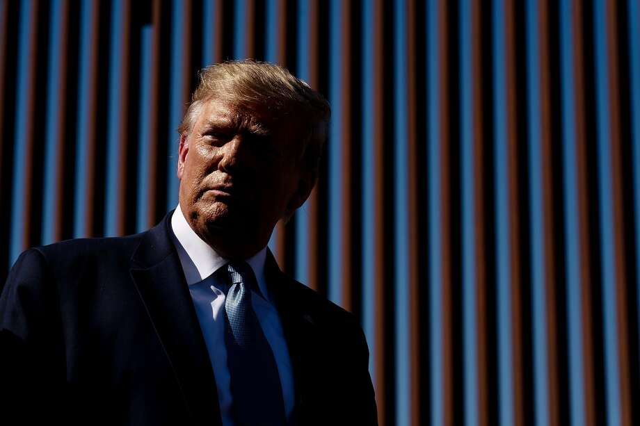 FILE - President Donald Trump at the Mexico border wall in Otay Mesa, Calif., on Sept. 18, 2019. A North Dakota-based firm made a pitch to Trump via Fox News, and may have won a government contract because of it. Photo: Erin Schaff, NYT