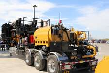 """Warren CAT and Caterpillar recently displayed its new """"all-Cat"""" frac trailer equipped with all-Caterpillar components. The trailer can run on diesel or a blend of diesel and natural gas."""