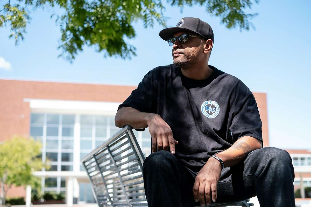 Sam Vaughn, program manager for the City of Richmond's Office of Neighborhood Safety, which runs the city's Operation Peacemaker Fellowship, poses for a portrait at City Hall in Richmond, Calif., on Thursday, September 19, 2019.