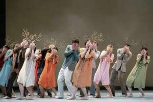 "Artists of Houston Ballet in Disha Zhang's ""Elapse."""