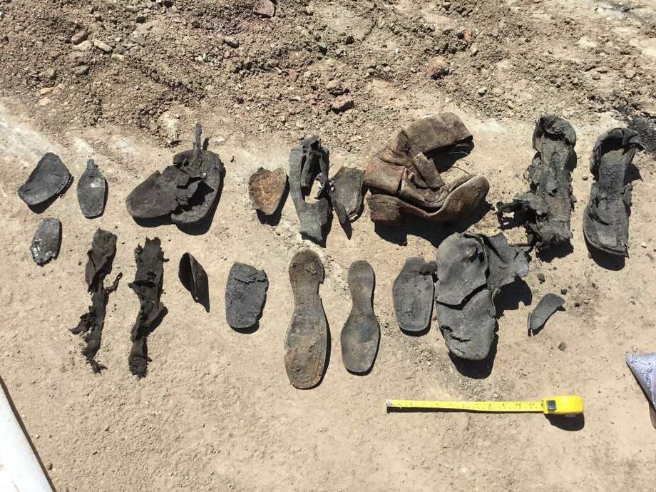 Remnants of shoes from the 1860s and 70s. Photo: Courtesy Of PaleoWest