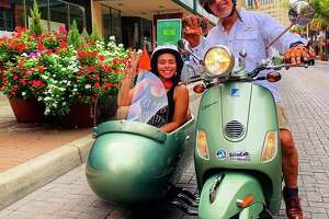 San Antonio Sidecar Tours hit the streets in July, taking residents and visitors coming in from as far as Kuwait around some of the city's must-sees via a seat in a sidecar attached to a Vespa.