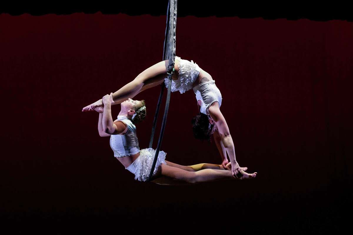 A past performance by Air Temple Arts in Woodbridge, Conn. shows the kind ofaerial dance the performance group specializes in.