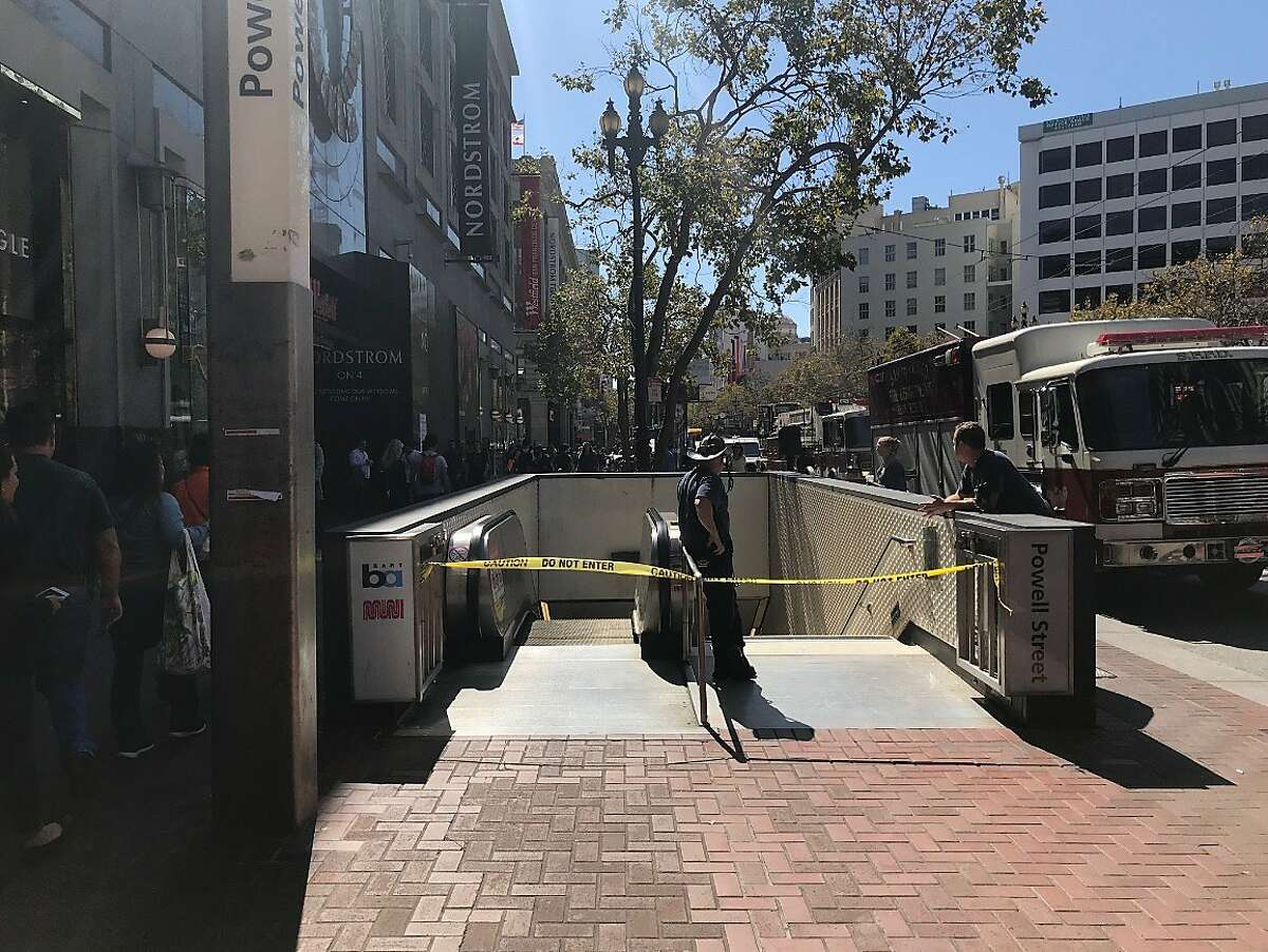 BART's Powell Street station was closed on Thursday, Sept. 19, 2019 after a medical emergency.