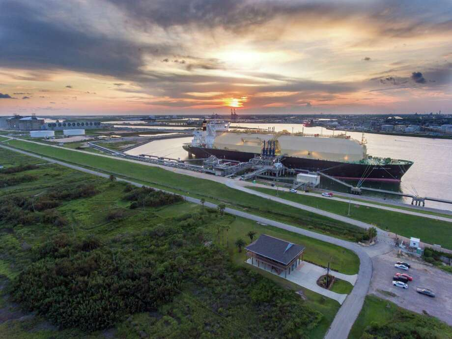 A Bahamas-flagged tanker named LNG Jurojin carried the first shipment of liquefied natural gas from the Freeport LNG export terminal near the Brazoria County town of Quintana on Tuesday, September 3, 2019. Photo: Courtesy Photo / Freeport LNG / Miracle films