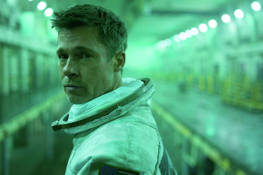 """This image released by 20th Century Fox shows Brad Pitt in a scene from """"Ad Astra,"""" in theaters on Sept. 20. (Francois Duhamel/20th Century Fox via AP) Photo: Francois Duhamel / Twentieth Century Fox"""