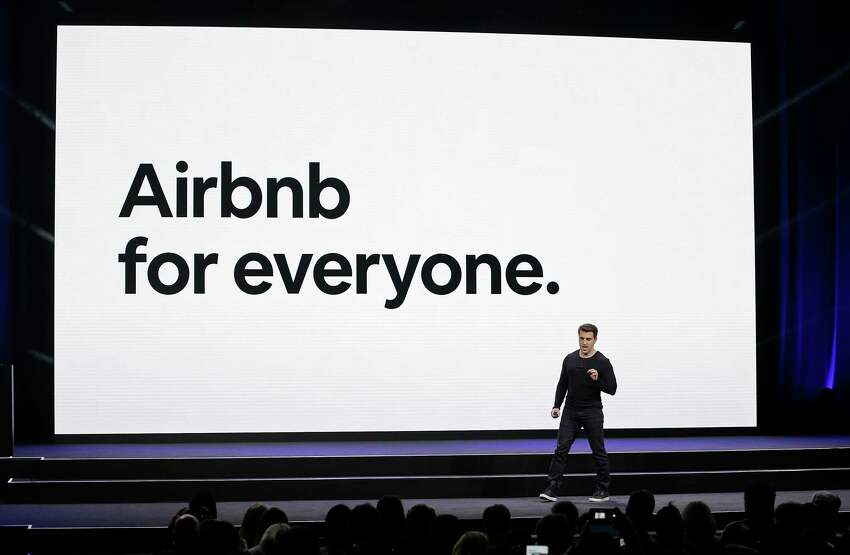 FILE - In this Feb. 22, 2018, file photo, Airbnb co-founder and CEO Brian Chesky speaks during an event in San Francisco. Home-sharing company Airbnb Inc. says it will go public in 2020. Ita€™s a long-awaited move for the company, which was founded in 2008 in San Francisco. (AP Photo/Eric Risberg, File)