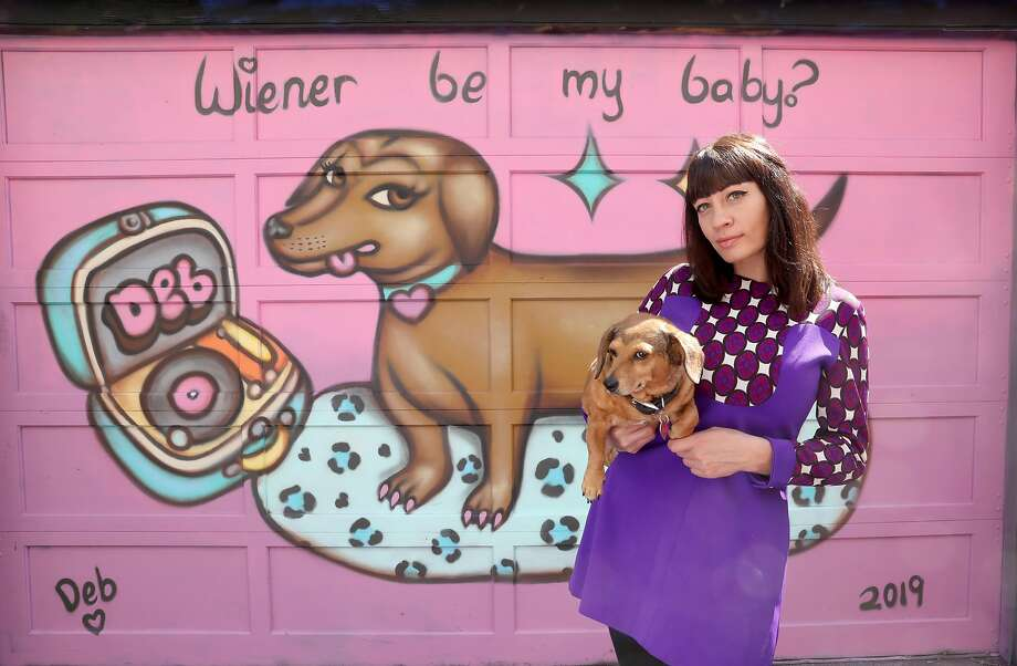 Mission muralist Deb Fineberg shows her latest mural featuring Sadie as her subject for the Lilac Mural project seen on Monday, Sept. 9, 2019, in San Francisco, Calif. Photo: Liz Hafalia / The Chronicle