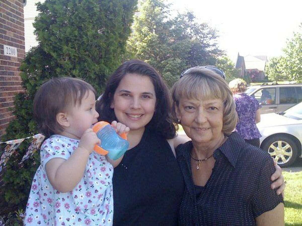 Darien resident Rochelle Charnin, her late mother, Beverly Tedesco, and her daughter Christina